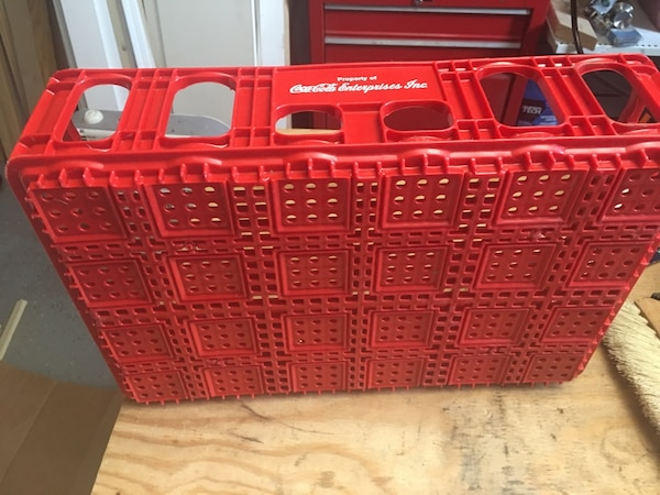 Vintage Coca Cola Crate Ruby Red, Great Condition 2549be52-43ae-4021-950d-14a35bcd19ee