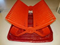 Red plastic dish rack Los Angeles, 90036
