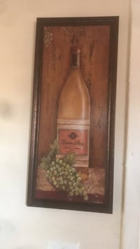 brown wooden framed painting of flowers 50 km
