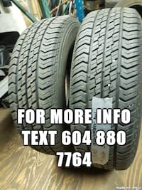 selling a set two ----- 195/65R15 motomaster ---- all season tires Port Coquitlam