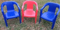 Three kids chairs / stackable