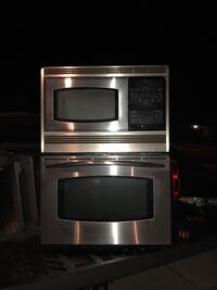 Stainless steel ge profile microwave/oven combo