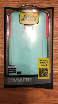 teal OtterBox Commuter Series for Samsung Galaxy Note 4 case with box Red Deer, T4N 1V9