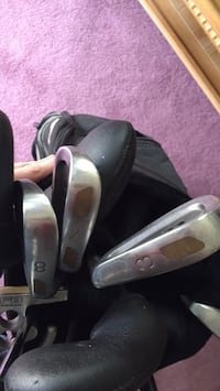 Full set of clubs with cart bag