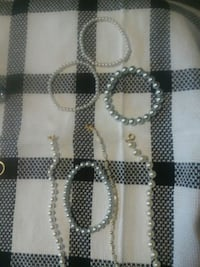white and black beaded necklace Burleson, 76028