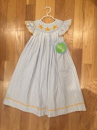 6T starfish girls smocked dress Arlington, 22206