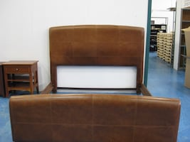 Leather Headboard King Size Bed