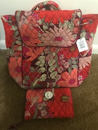 Vera Bradley mini backpack & wallet Willow Grove, 19090