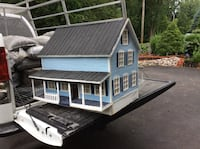 blue 2 storey house scale model