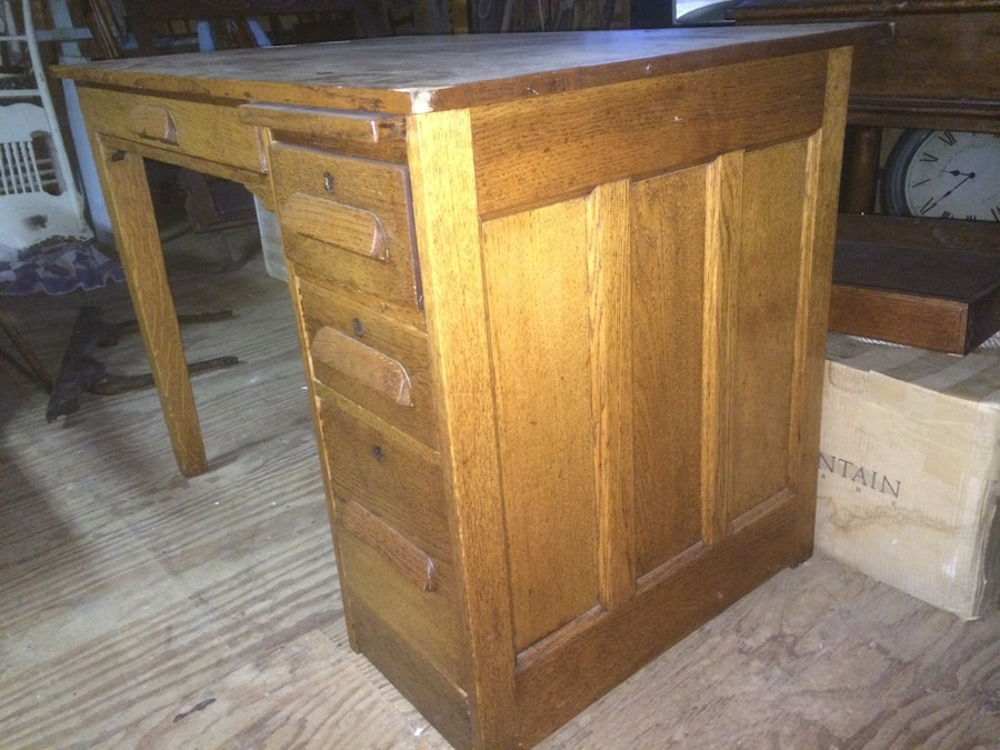 used antique oak school teacher desk for sale in monroe letgo rh us letgo com