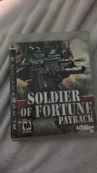 Sony PS3 Soldier of Fortune Payback case Windsor, N8Y