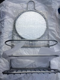 New Metal Shower Caddy with Mirror Langley, V2Y 3G5
