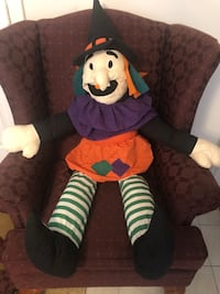 Plush Witch Stuffed Table Top Sitter Halloween Decor
