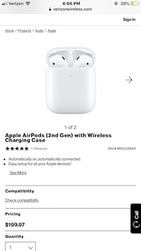 AirPods 2gen wireless charger Travelers Rest