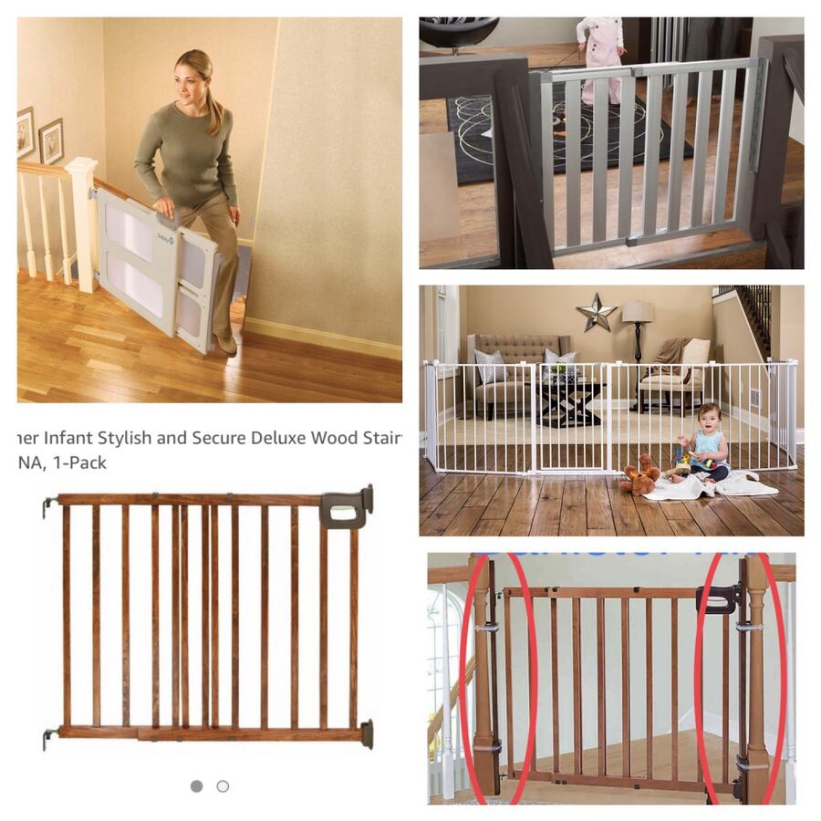 (Brand New) hardware mounted gates and banister kits