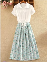 White and blue floral dress Wappingers Falls, 12590