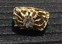 14 kt yellow gold nugget style solitaire style ring Calgary, T2X 3K2