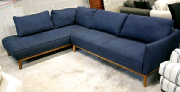 Used Jolene Navy Blue Sectional Sofa For Sale In Decatur Letgo