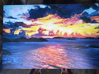 """Seascape oil painting on canvas  32""""x48"""""""