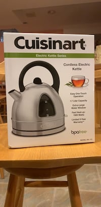 White and black and gray cuisinart electric kettle box Mississauga