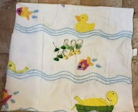 Chenille Shower Curtain Frogs Yellow Ducks Turtles Fish, 12 Rings