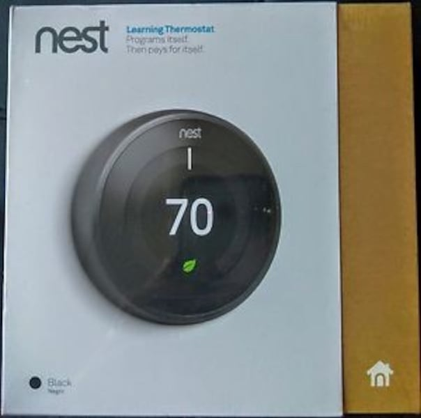 Nest Learning Thermostat 3rd Gen Black New 3e178c04-1814-4271-98ae-e19551a6f75f