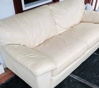 White Leather Couch Rockville, 20850