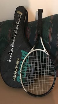Black and white tennis racket with case Newport News, 23602