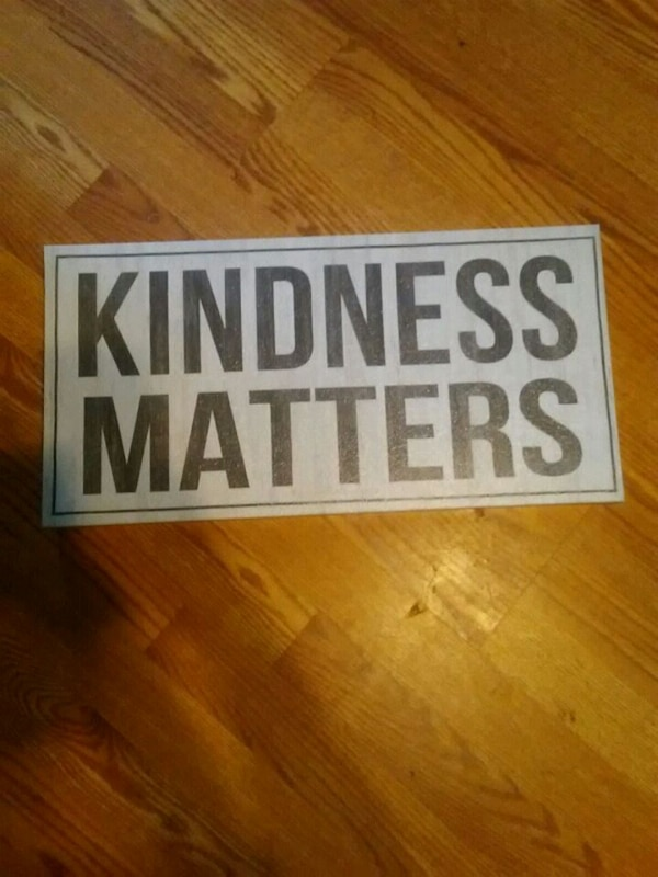 Kindness matters sign