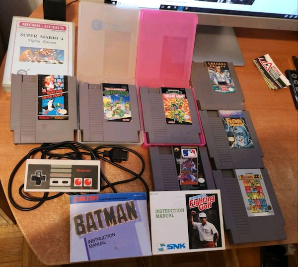 NES Game Lot + Controller