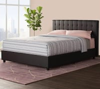 Queen sized black bed frame