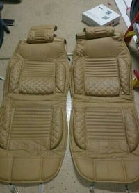 two brown car seat covers