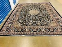 "Ink blue Persian handmade wool rug 9'10x12'9"" ft delivery available Toronto, M2R 3N1"