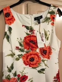 white and red floral sleeveless dress Toronto, M1E