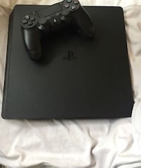 black Sony PS4 console with controller London, E17 8ED