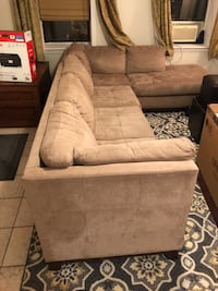 Micro-suede sectional couch Jersey City, 07302