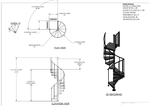 Used Black Steel Spiral Stairs 48 For Sale In Toms River Letgo