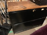 black wooden 2-drawer chest Ottawa, K4M 1M1