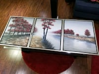 two white and brown trees painting Mississauga, L5L 3H1