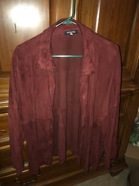 Women's Maroon Suede Button Up Warrenton, 20186
