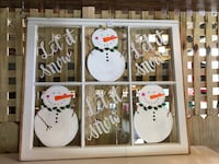 Winter/Christmas decorated window Grayson, 30017