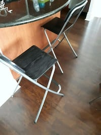 Ikea Farnklin Bar Stools (Black wood)