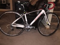 White black and red Woman's Specialized road bike  Lynnwood, 98087