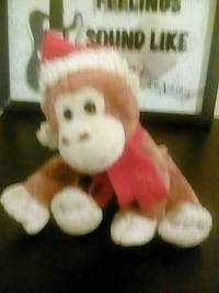 brown and white monkey plush toy Missouri City, 77489