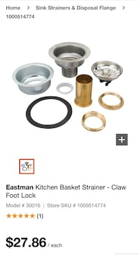 BNIB Eastman strainer basket assembly BNIB Surrey, V3V 3H2