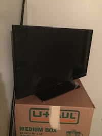 Black  flat screen tv 32 inch