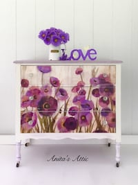 Vintage Purple Floral Chest Glenwood, 21738