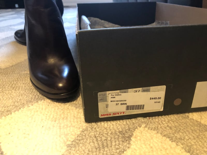 Miss Sixty Brown High Boots size 37 e4f295cb-0194-4b2b-80b2-14a1ec0d338a