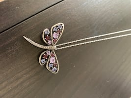 Vera Wang Dragonfly Pendant Necklace