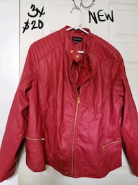 red leather zip-up jacket Lubbock, 79410